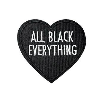 ALL BLACK EVERYTHING Black Heart Patch