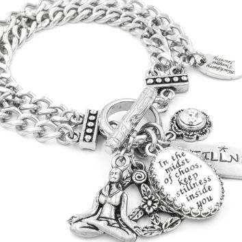 In the Midst of Chaos, Inspirational Charm Bracelet
