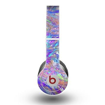 The Abstract Colorful Oil Paint Splatter Strokes Skin for the Beats by Dre Original Solo-Solo HD Headphones