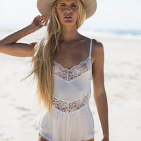 Ellie Playsuit White