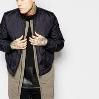 ASOS 2 In 1 Bomber Jacket With Removable Gilet at asos.com