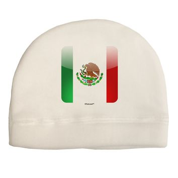 Mexican Flag App Icon Child Fleece Beanie Cap Hat by TooLoud