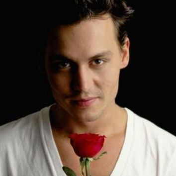 "Johnny Depp Poster Rose 16""x24"""