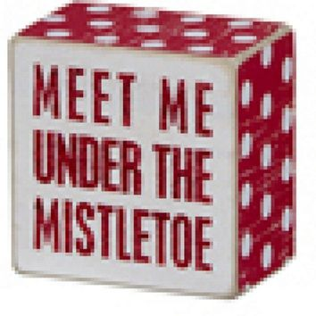 Box Sign - Mistletoe