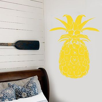 Vinyl Wall Decal Pineapple Tropical Fruit Beach Style Stickers Unique Gift (1745ig)