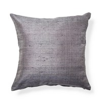 gray silk cushion cover