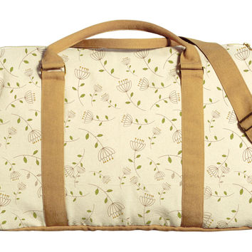 Floral Cute Patterns Printed Oversized Canvas Duffle Luggage Travel Bag WAS_42