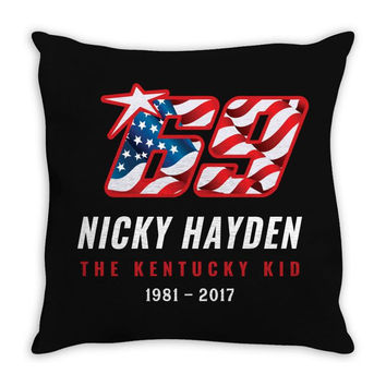 69 Nicky Hayden The Kentucky Kid Throw Pillow