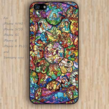 iPhone 5s 6 case collage Dream catcher colorful cartoon characters phone case iphone case,ipod case,samsung galaxy case available plastic rubber case waterproof B439