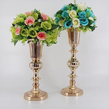 Gold Tabletop Flower Vase Centerpiece - 20''