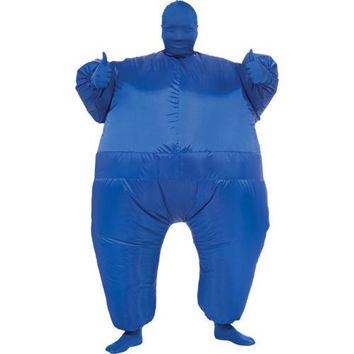 Costume Morphsuit: Inflatable Skin Suit - Blue