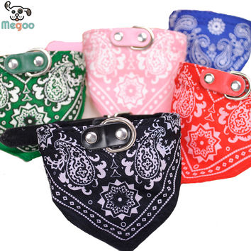 1Pc Lovely Pet Dog Scarf Collar Adjustable Puppy Bandana Quality Pet Cat Tie Collar
