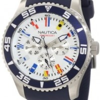 Nautica Men's N12627G NST 07 Flags Stainless Steel Watch