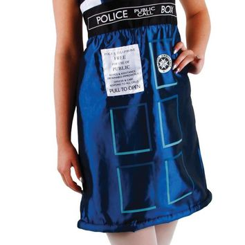 Doctor Who Tardis Dress Sm Medium costume for Halloween 2017
