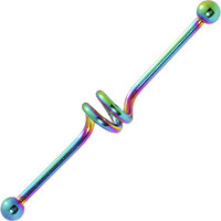 Spiral Rainbow Anodized Titanium Industrial Project Bar 40mm