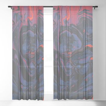 Fever Sheer Curtain by duckyb