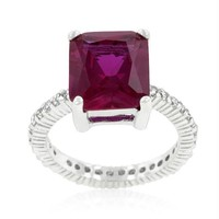 Radiant Cut Pink Engagement Ring