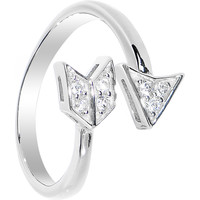 925 Sterling Silver CZ Arrow Toe Ring