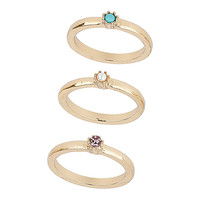 Stone Midi Ring Pack - Rings - Jewelry - Bags & Accessories - Topshop USA