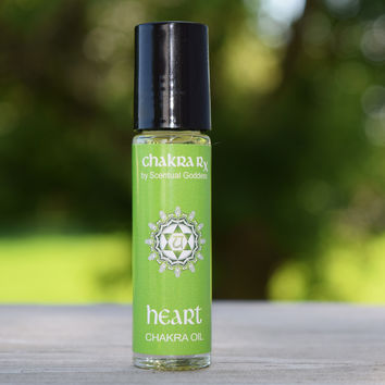 "Heart Chakra Oil - ""My Heart is Open to Love"" - Increase Self Love and Let Go of Regret"