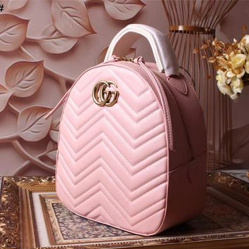GUCCI GG MARMONT LEATHER BACKPACK BAG
