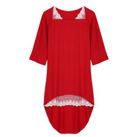 [2 COLORS] Fashion Women's Ladies Mid Sleeve Knit Tops Mini Loose Dress