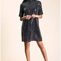 Oh My Love Disco Ball High Neck Tshirt Dress