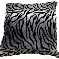 Zebra Plush Throw Pillow Animal Collection 20x20 Polyester Living Room Sofa Bed