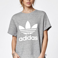 adidas Drawcord Crew Neck T-Shirt at PacSun.com