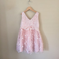 "The ""Calla"" Pink Lace Tulle Dress"
