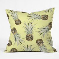 Lisa Argyropoulos Pineapple Jam Throw Pillow