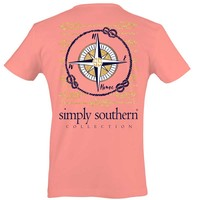 Simply Southern Preppy Collection Compass T-shirt for Women in Mint Julep PRPCOMPASS-MELON