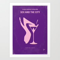 No308 My Sex and the City minimal movie poster Art Print by Chungkong
