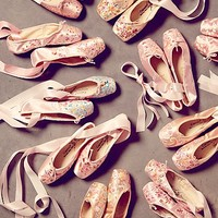 Free People Womens Vintage Painted Ballet Slippers - Assorted, One