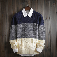 Winter Warm Men's Vintage Comfortable Classic Cable Knit Sweater