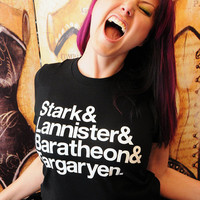 Stark... Game of Thrones Ampersand shirt.  Women's fitted American Apparel LARGE.