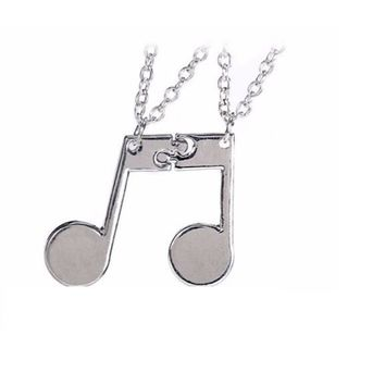 Music Note Friendship Pendant Necklace