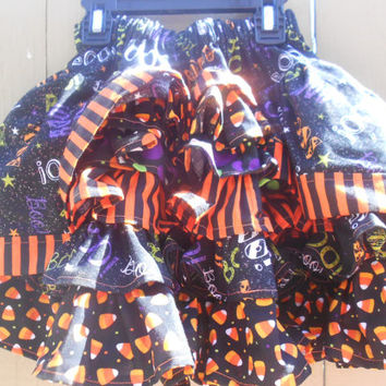 Halloween twirly skirt, Ruffle skirt, Toddler skirt, Bustle skirt