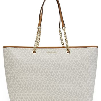 MICHAEL Michael Kors Signature Jet Set Travel Medium Multifunction Tote