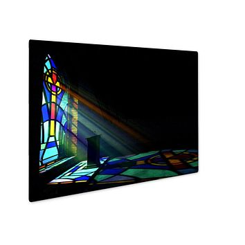 Metal Panel Print, Old Faithful Stained Glass Window Church