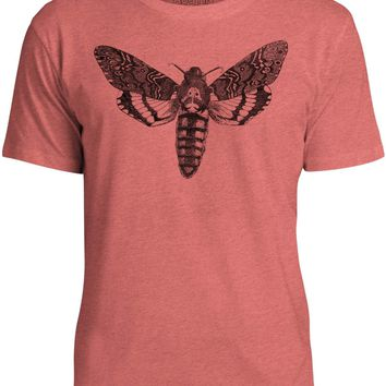 Austin Ink Apparel Death's Head Moth Unisex Kids Short Sleeve Printed T-Shirt