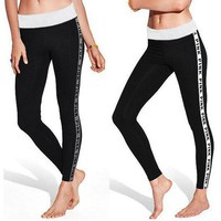 DCCK7BW Victoria's Secret PINK The letters are slim Leggings
