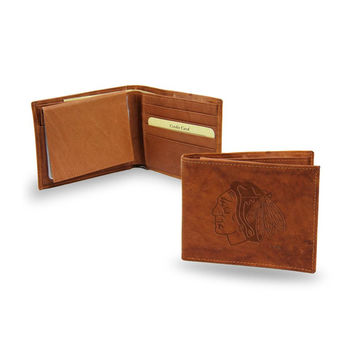 Chicago Blackhawks NHL Embossed Leather Billfold