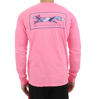 Longshanks Long Sleeve Tee Shirt in Pink by Country Club Prep