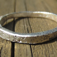 Silver Stacking Ring, Hammered Silver Ring, Hammered Ring