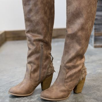 Not Rated Sass It Up Boot - Taupe