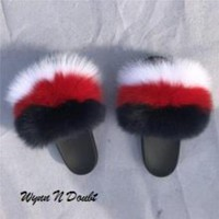 Mob Mink Fur Slippers
