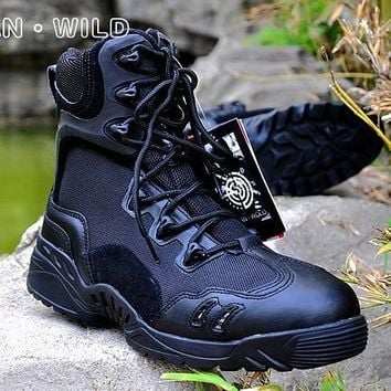 Men's Jungle Boots Dessert Tactical Combat Boots Outdoor Hiking Shoes Army Military Boots EUR size 39-45