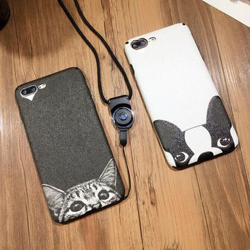 Dog and Cat iPhone 7 7Plus & iPhone se 5s 6 6 Plus Case Best Protection Cover +Gift Box