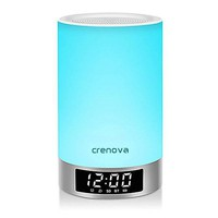 Blue Bedside Mood Touch Lamp by Crenova